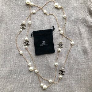 New CHANEL Pearl Chain Necklace (NO DUST BAG)